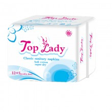 Lady Sanitary Napkin (12 pcs days +5 pcs for free )